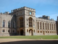hrad Windsor Castle - nádvoří Quadrangle
